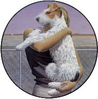 'Woman and Terrier' by Alex Colville