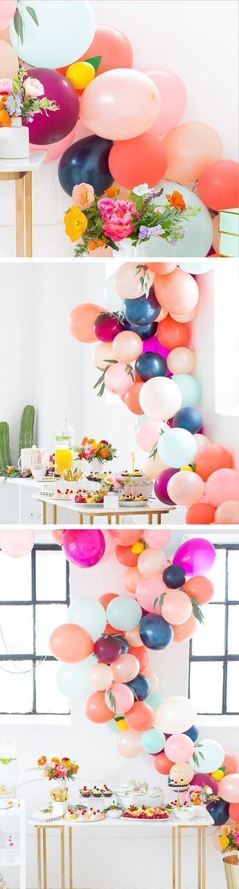 The perfect floral Spring Bridal Shower we hosted in the Sugar & Cloth studio by Ashley Rose of Sugar & Cloth, an award winning DIY blog. #balloonarch #partydecor #entertaining #party