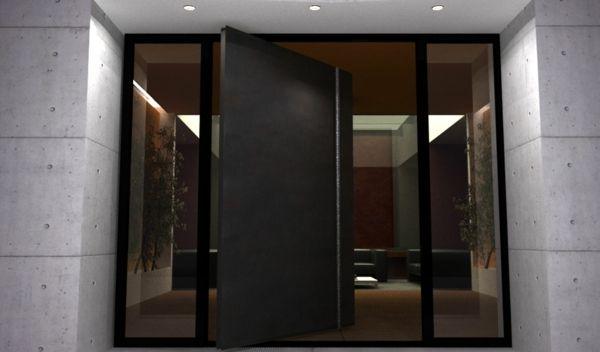 Porte D 39 Entr E Pivotante Dominante Verre Portes Entr E Pinterest Plus D 39 Id Es Entr E