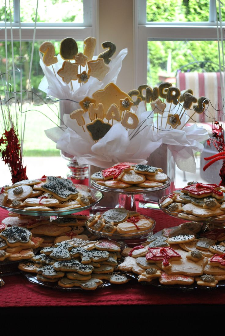 2014 graduation decorations - Graduation Party Sugar Cookie Display