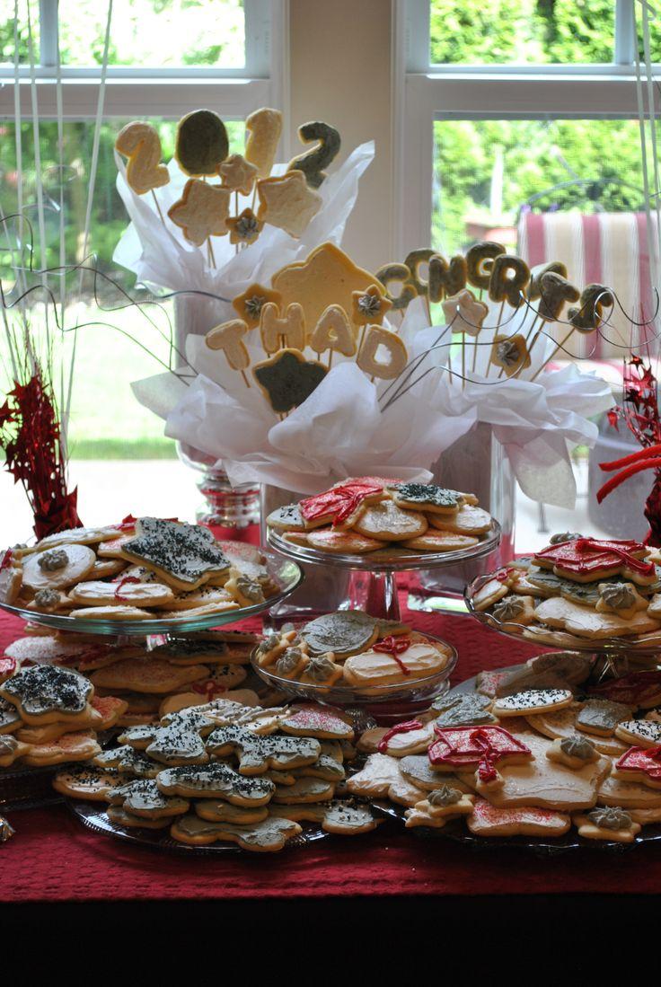 graduation party sugar cookie display