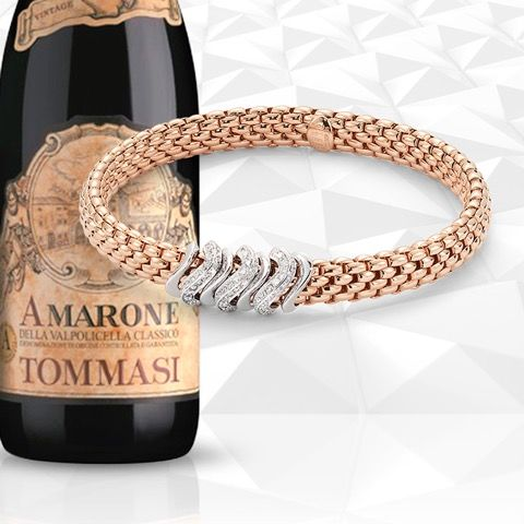 Fope Jewels and Tommasi Wines for Vicenza oro January 2016! Come to see our latest creations and to sip a glass of Tommasi wine! www.fope.com