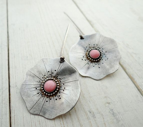 Pink Poppy Earrings by Lost Sparrow Jewelry