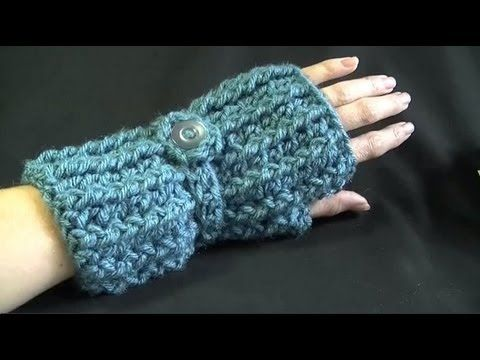 Crochet video for hand warmers! Doesn't look too bad.. I might have to try this for work since my hands freeze!