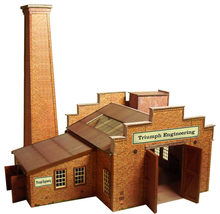New Release OO Gauge Brick Foundry  OO-23 £4.17 = C$6.99. The kit has all the flavour of the typical small foundry's found all over the British Isles producing a large number of products for local industry. The kit comes with a variety of business names for the outside of the building.