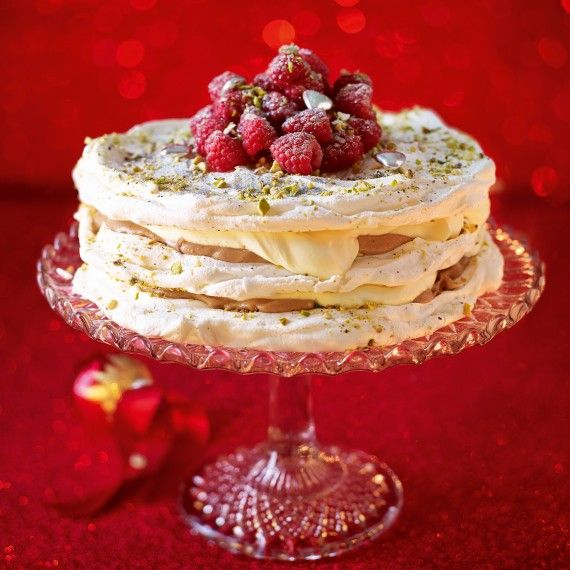 Pistachio And Raspberry Meringue Cake - Woman And Home                                                                                                                                                                                 More