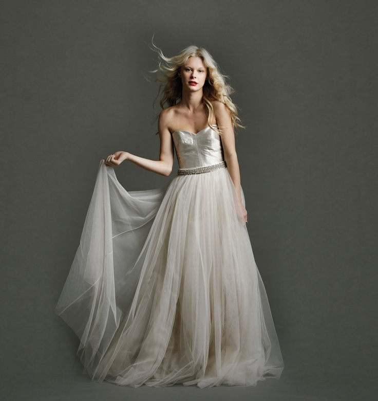 """The Isadora"" wedding dress with tulle skirt by JohannaJohnson"