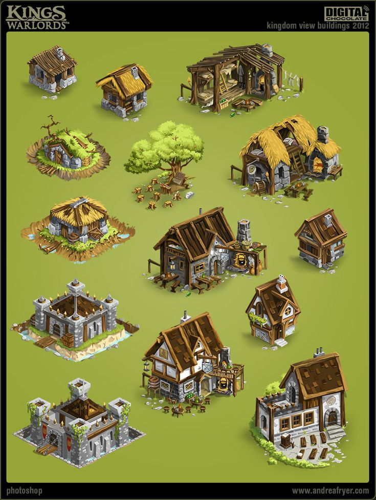 """""""Kings & Warlords"""" (game) - Environment assets, Andrea Fryer"""