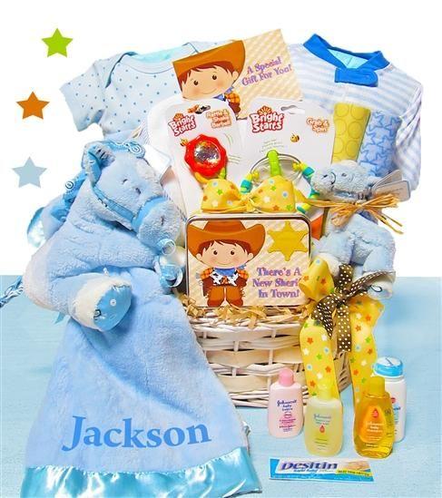 Cowboy Baby Gift Basket