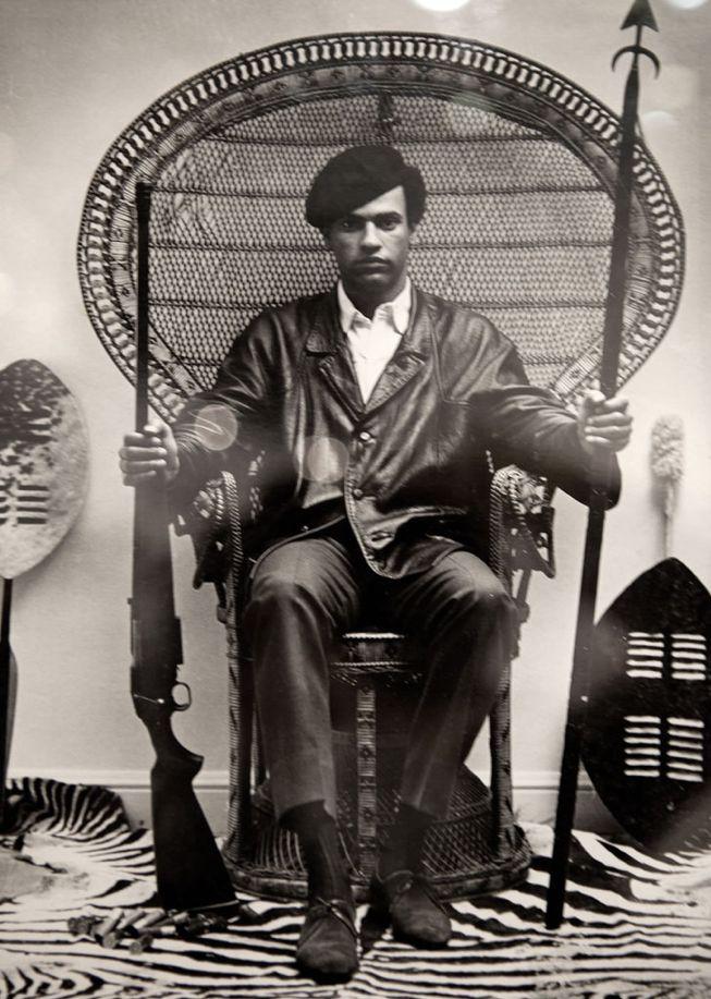 Black Panther LeaderHuey Newton. 1969.