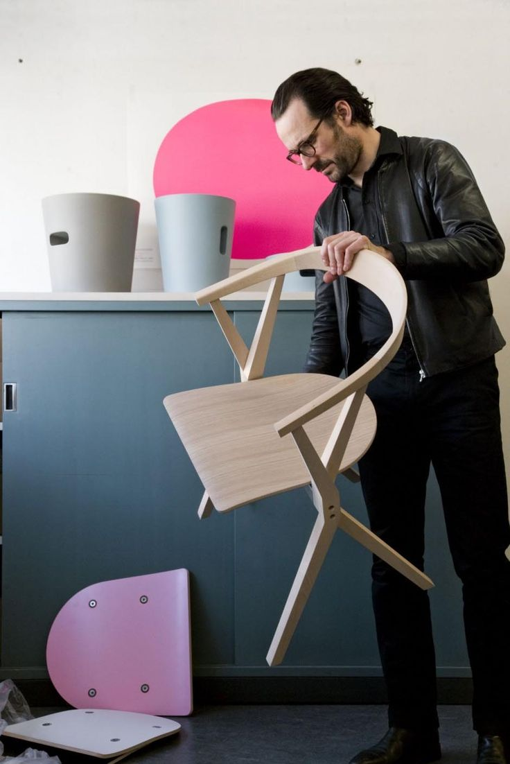 Modern The B Chair by Konstantin Grcic Folding Chairs Behind by Konstantin Grcic