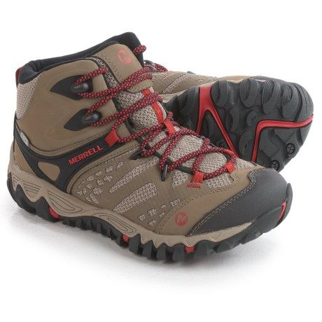 Merrell All Out Blaze Ventilator Mid Hiking Boots - Waterproof, Leather (For Women) in Brown  1.8 lbs  $80