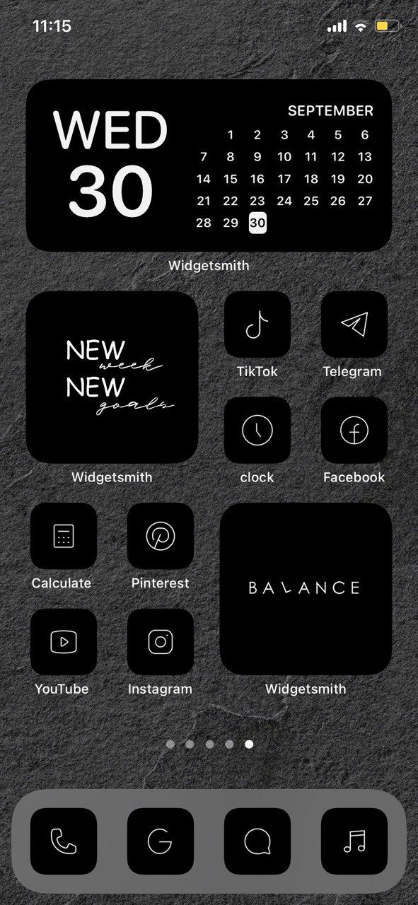 Dark One A Collection Of Premium Ios Icons Ios Icon Homescreen Dark Phone Wallpapers