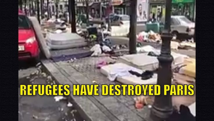Islamic refugees have destroyed the once beautiful city ofParis. They have no respect or care for the Parisian culture or the beauty of the city. They've littered it with garbage, violence, and forced THEIR WAY OF LIFE and religion down everyone's throat. This short video shows what these disrespectful hobos have done to Paris – and if we elect Hillary, the same thing will happen to our beautiful cities. Watch the video: Littering in Paris is illegal. its a good thing the migrants are…