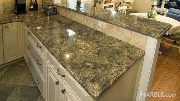 Ganache Granite Kitchen White Cabinets