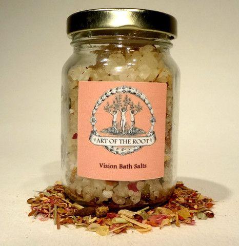 Vision Bath Salts For Hoodoo Voodoo Wicca Pagan Rituals Bath Salts