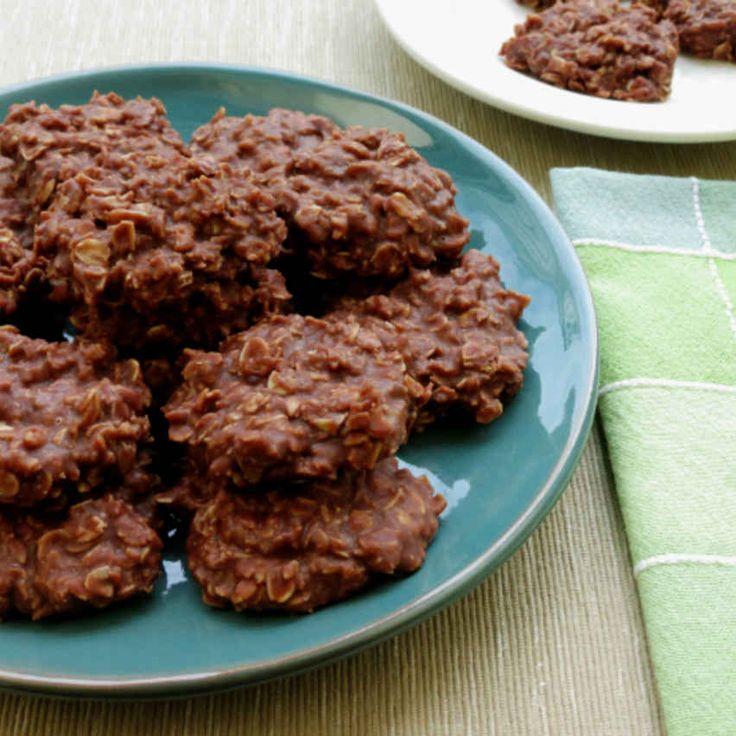 Chocolate Peanut Butter No-Bake Cookies Recipe.