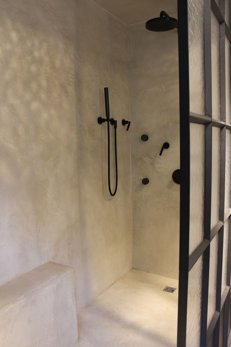 bathroom renovation noblesse. Mortex. black tara dornbracht. Steel frame shower panel. 2013