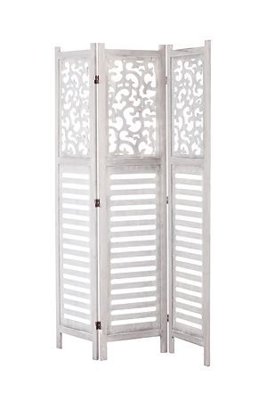 """With a wood, window pane frame, this stylish screen has 3 expandable panels and can be used as a room divider in any interior setting.<div class=""""pdpDescContent""""><ul><li> MDF</li><li> 3 x panel screen</li><li> No assembly required</li></ul></div><div class=""""pdpDescContent""""><BR /><b class=""""pdpDesc"""">Dimensions:</b><BR />L120xW2xH172 cm<BR /><BR /><div><span class=""""pdpDescCollapsible expand"""" title=""""Expand Cleaning and Care"""">Cleaning and Care</span><div class=""""pdpDescContent""""…"""