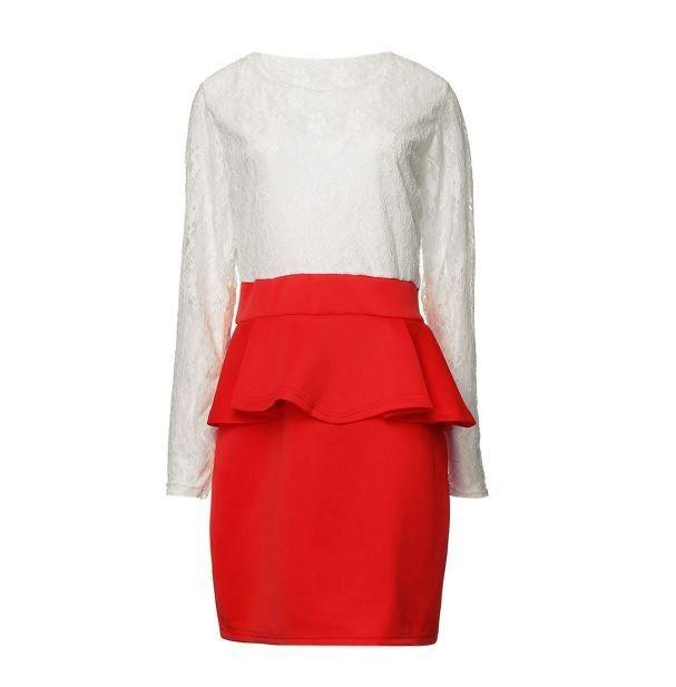 Moderní dámské peplum party krajkové šaty s červenou sukní – Velikost L Na tento produkt se vztahuje nejen zajímavá sleva, ale také poštovné zdarma! Využij této výhodné nabídky a ušetři na poštovném, stejně jako to …