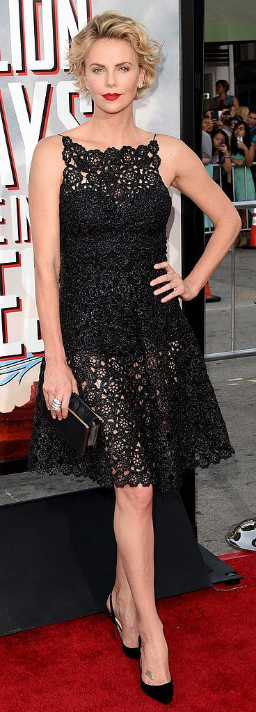 Charlize Theron in Christian Dior at the LA A Million Ways to Die In the West premiere.