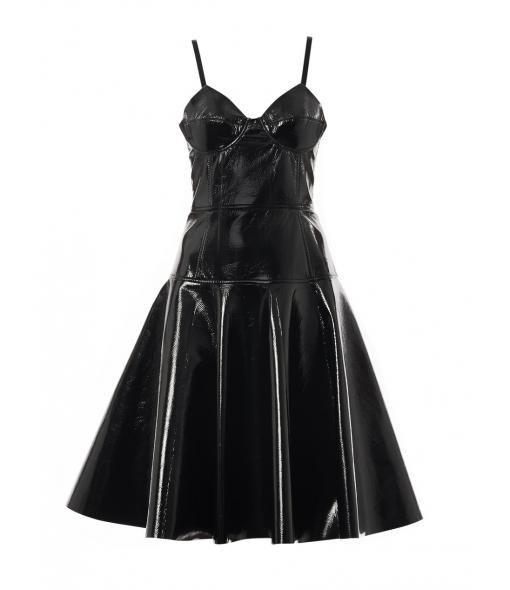 Jemima fitted vinyl dress  #Matchesfashion
