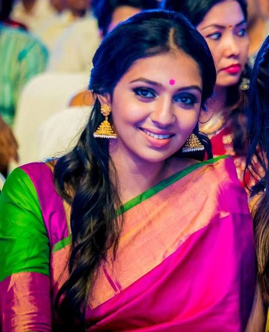 lakshmi menon at SIIMA 2014   Indian Traditional ...