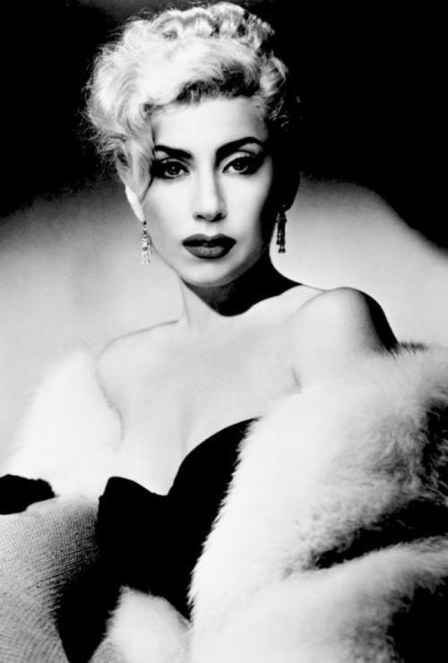 Lady Gaga meets marilyn monroe meets madonna kind of i think its fab!