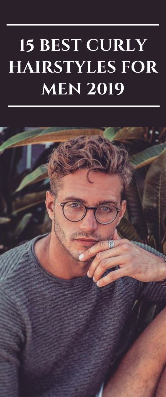 15 Greatest Curly Hairstyles For Males 2019 #menshair #barber #mensfashion #barbersho…