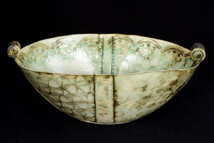Antique porcelain oval bowl