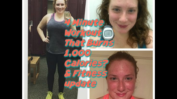 4 Minute Workout That Burns 1,000 Calories & Fitness Upate - YouTube