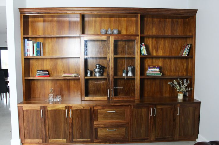 Beautiful bookcase - Solid Blackwood with Semi Gloss clear polyurethane