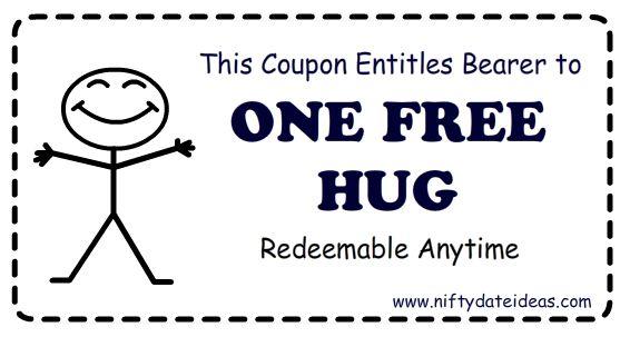download printable  u0026quot free hug coupons u0026quot