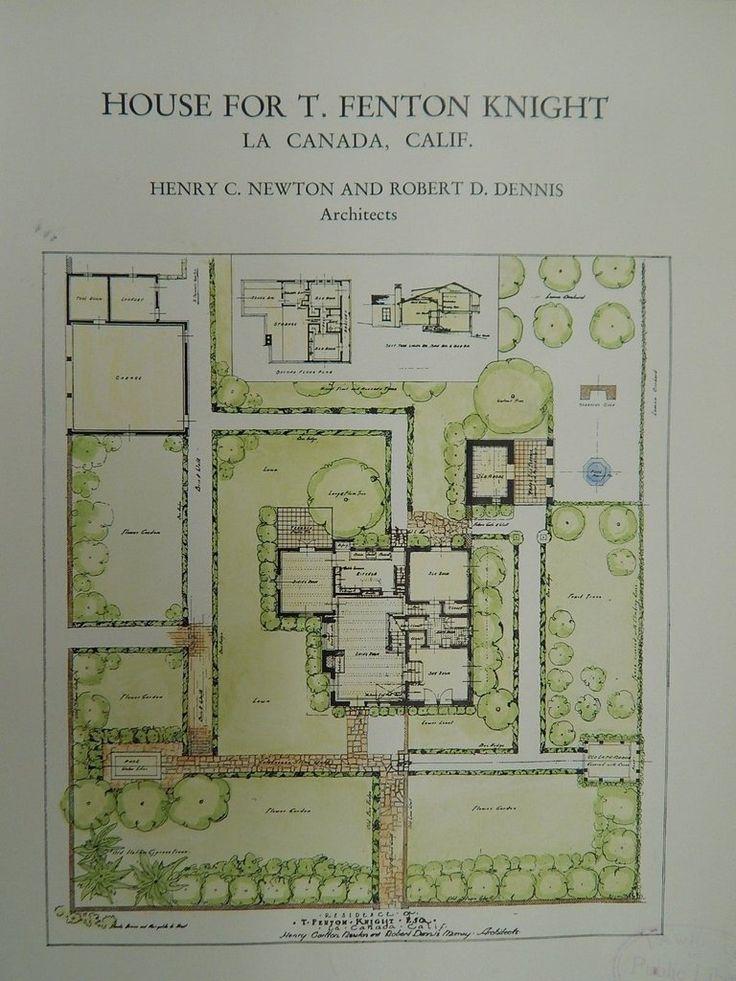 House for T. Fenton Knight, La Canada, CA, 1929, Original Plan. Newton&Dennis
