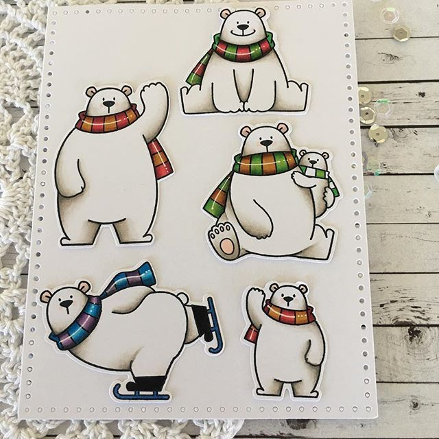 Just had to colour up these fabulous bears from #mftstamps #cardmaking #copiccoloring #cards @cardsncraftshop