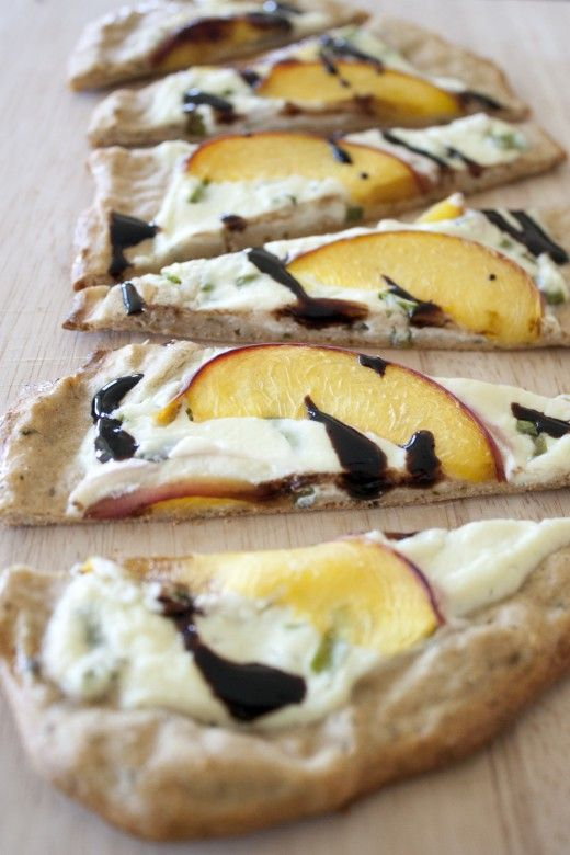 Rustic Ricotta & Peach Personal Sized Pizza - With Balsamic Glaze