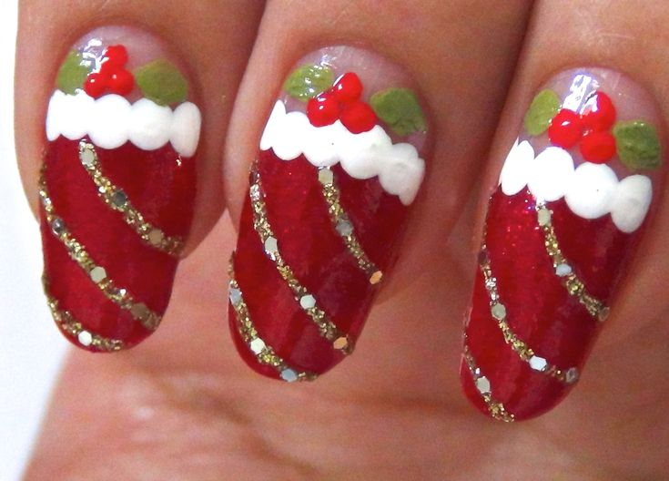 Here these list of great pictures or photographs of Simple Christmas Nail Designs as part of Bedford Nail Art Designs updates collection.
