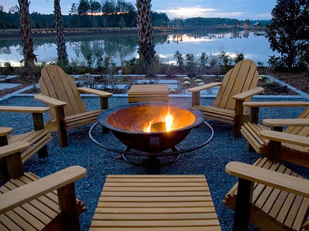 fire pit outdoor seating