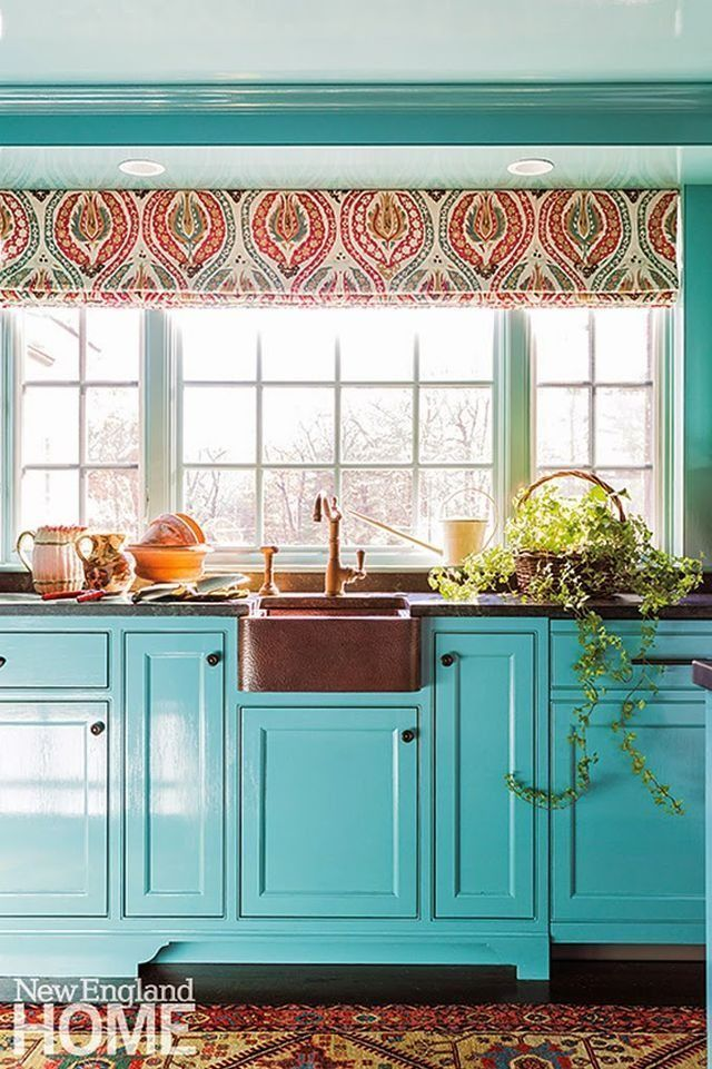 Turquoise And Aqua Kitchen Ideas In 2020 Teal Kitchen Cabinets