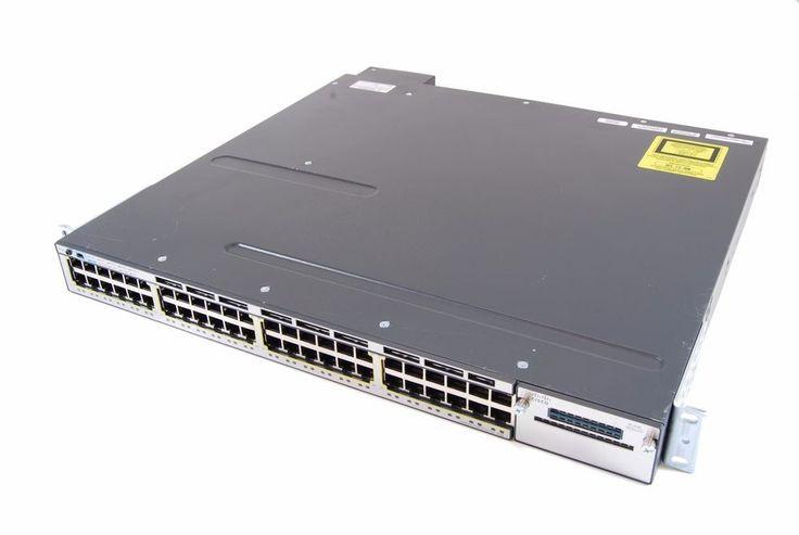 Cisco Catalyst 3750X WS-C3750X-48PF-S 48 Ports PoE+ Rack-Mountable Switch. #Cisco