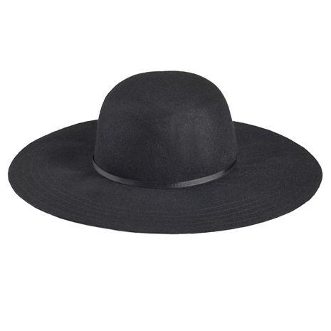 Černý klobouk s širokou krempou okoření váš podzimní outfit.