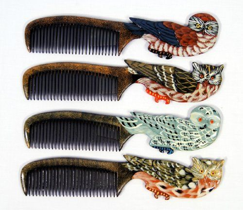 Hand-painted Assorted Owl Combs
