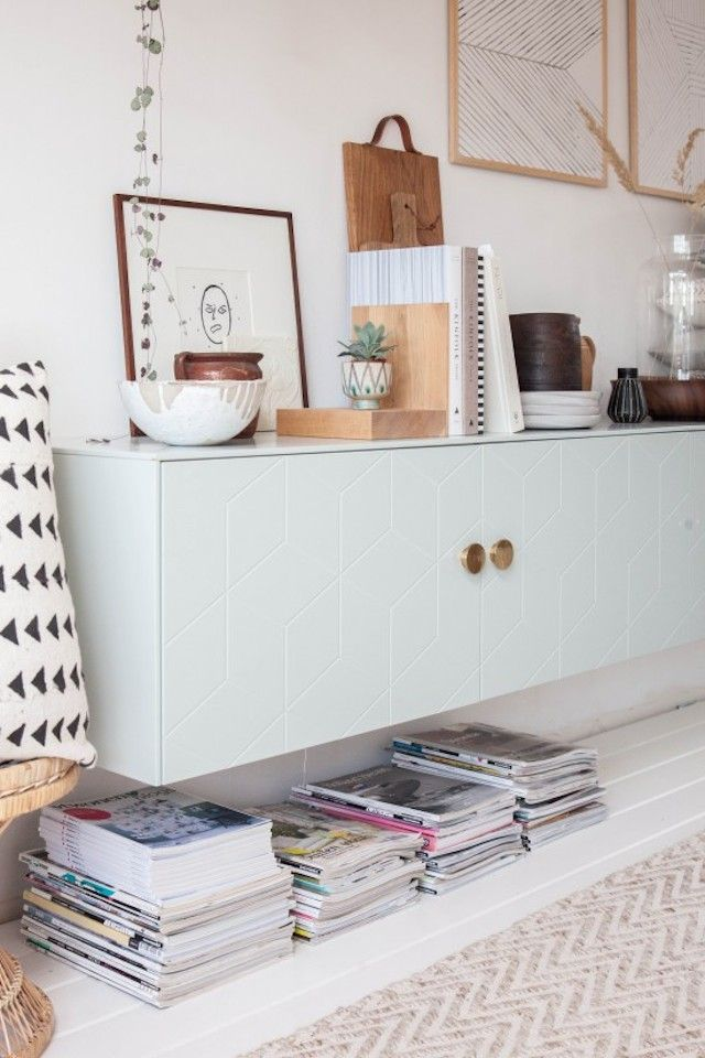 Superfront doors on a side cabinet in Holly Marder's lovely studio.