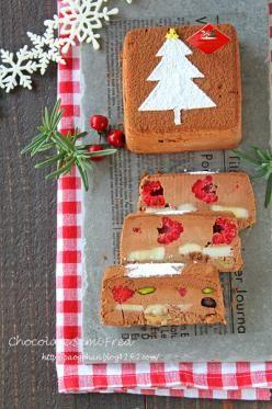 「クリスマスツリーアイスケーキ☆チョコレートセミフレッド」ぱお | お菓子・パンのレシピや作り方【corecle*コレクル】
