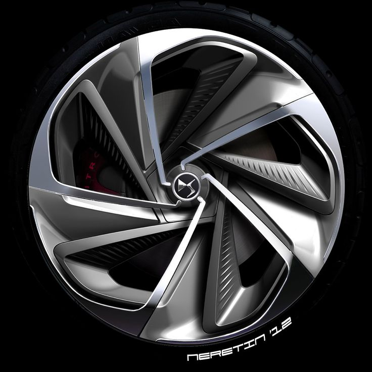 Citroen Numero 9 Concept Wheel Design Sketch