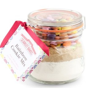 Rainbox cookie mix ready to make straight from the jar, makes a lovely gift !