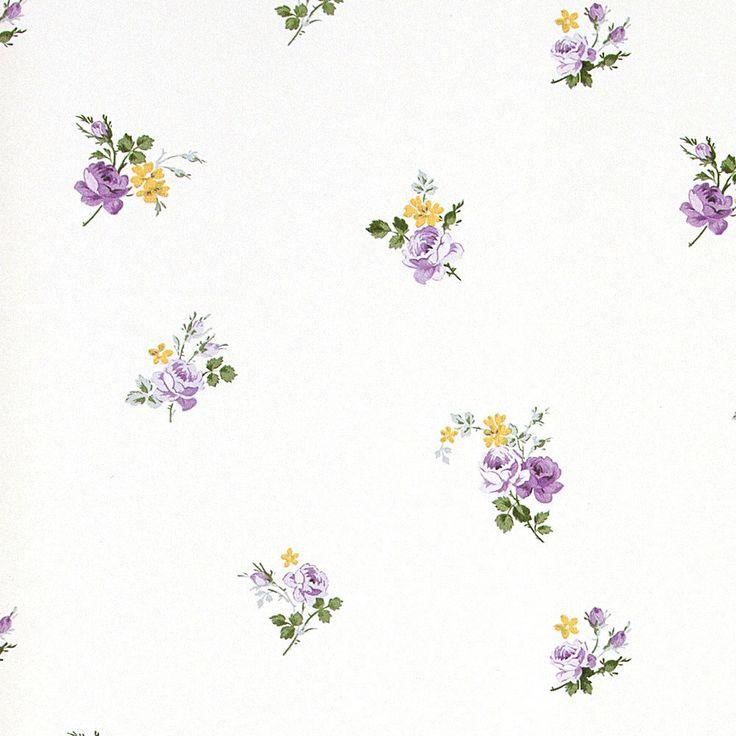 Virginia 1 papel pintado papel petit motifs v blanco - Papel pintado vinilico ...