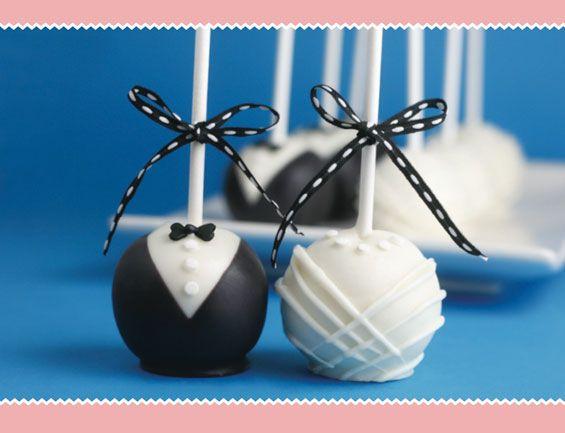 Bride & Groom Cake Pops: DIY !