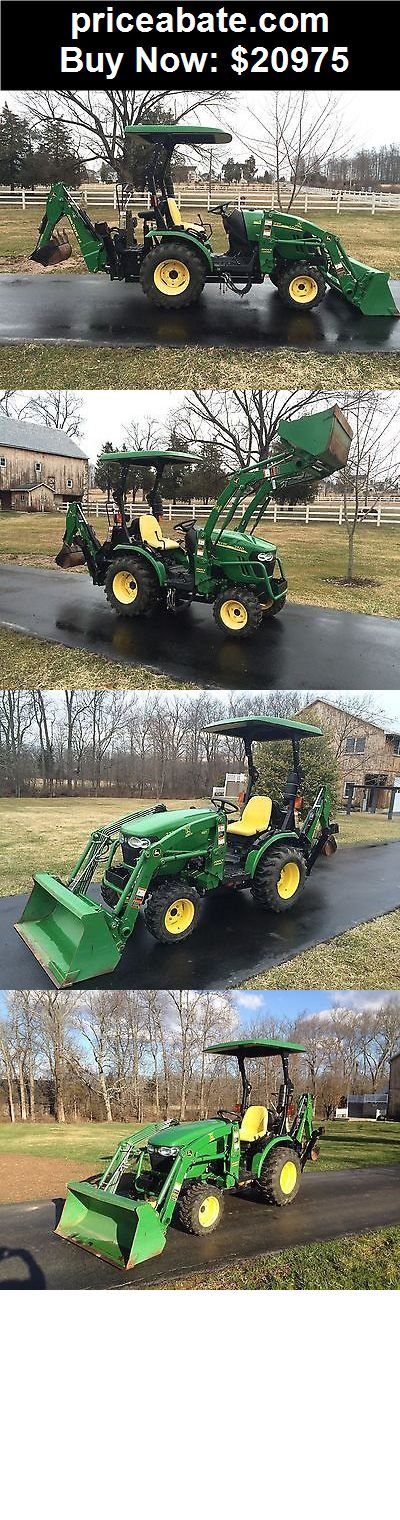 Heavy-Equipments: John Deere 2320 Diesel Tractor, 4x4, 23HP, Hydro, 99 Hrs, JD Loader & JD Backhoe - BUY IT NOW ONLY $20975