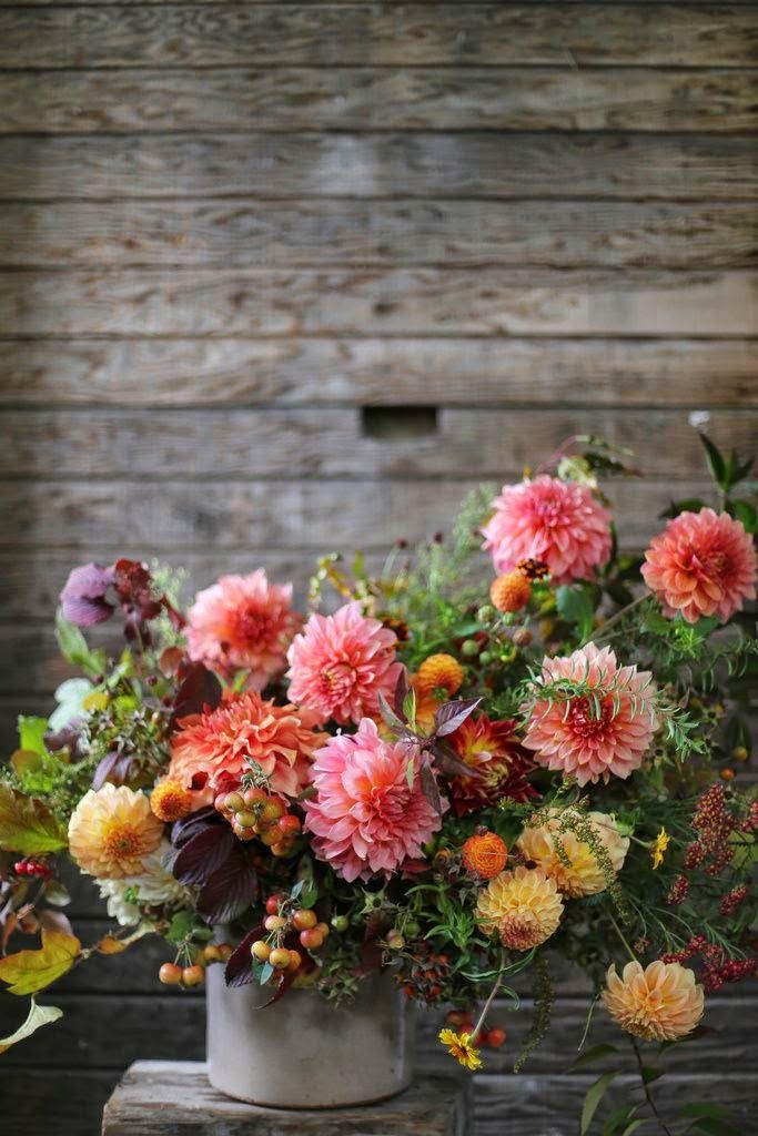 Huge sweeping dahlia floral arrangement fall flowers fleurs dautomne autumn inspired blooms